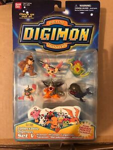 Bandai Digimon Collectable Mini Figures Set 5 NEW IN PACKAGE