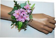 Prom, Wedding Accessories, Purple Flowers Corsage, Flower Wristlet