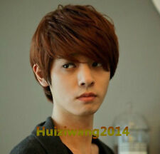 Hot! boys wig New fashion Korean men's short Light brown male hair Cosplay wigs