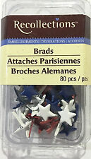 RECOLLECTION 80 STARS BRADS ~RED WHITE & BLUE TONES