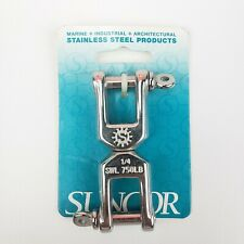 Suncor Marine Jaw & Jaw Swivel Solid 316 Stainless 1/4 Safe Work Load 750 lb