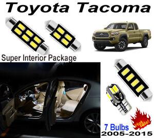 7 Bulbs Fit Toyota Tacoma 2005-2015 LED Interior Light Kit Xenon White Room Lamp