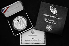 2011 P 9/11 National 1 oz Silver Medal US Mint September 11th Includes Box & COA