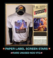 vTg 1977 NOS Star Wars orig Hildebrandt Poster Solo story Screen Stars T-Shirt L
