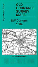 OLD ONE INCH MAP SW DURHAM WEST AUCKLAND BARNARD CASTLE SHILDON 1904