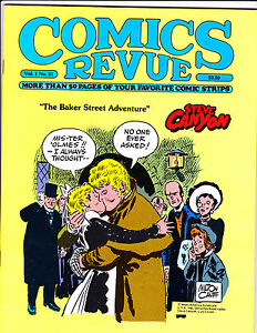 """Comics Revue Vol 1 No 21-1987-Strip Reprints- """"Steve Canyon Cover!  """""""