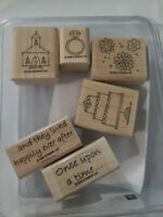 STAMPIN UP FAIRY-TALE WEDDING  SET OF 6 WOOD RUBBER STAMPS