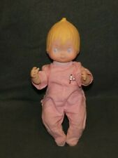 """1992 PRECIOUS MOMENTS BABY DOLL  VINYL  12"""" in pink sleeper"""