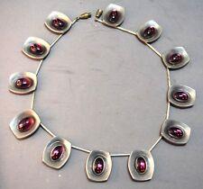 RARE Modernist Pewter Jorgen Jensen Denmark Vintage Exquisite Necklace!