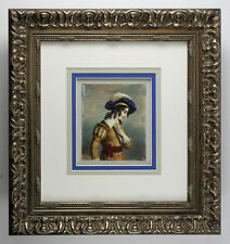 "Spectacular 1800s English Painting ""Young Prince with a Feather Hat"" FRAMED COA"
