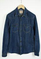 REPLAY M437 Men's LARGE Snap Button Denim Western Shirt 21582-JS
