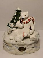 Vintage Coca-Cola Heritage Collection 1995 Polar Bears and Music Box Coca-Cola