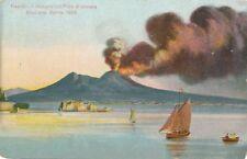 NAPOLI – Il Vesuvio col Pino di Cenere Erizione Aprile 1906 – Italy