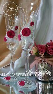 Swarovski Crystal Personalize Brilliant Wedding Toast Glass Bling Sparkle Rustic
