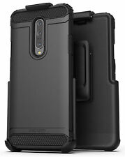 OnePlus 7 Pro Belt Clip Holster Case (Scorpio Armor) Grip Cover w Holder, Black
