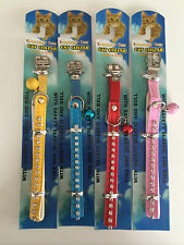 Cat Collar- Cat safety collar 31 cm- With safety elastic and  matching bell