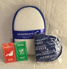 Aeroflot Russian Airlines SkyTeam Mini-Kit - Slippers & Eyeshades - Brand New