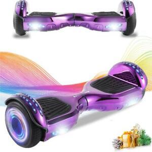 Hoverboard Bluetooth Lila Elektro Scooter LED 2 Räder ElektroRoller Für Kinder