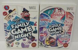 Nintendo Wii Wii U Games LOT Hasbro Family Game Night 1 + 2  - Working