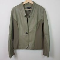 [ PINK TARTAN Canada ] Womens Leather & Ponte Jacket  | Size L or AU 14 / US 10