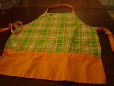 Apron Tree Orange Small Size Adult or Child's - 100% Cotton - U.S.A. - Used