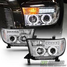 2007-2013 Toyota Tundra 08-17 Sequoia LED Halo Projector Headlights Lamps 07-13