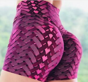 Womens High Waist Yoga Shorts Sports Gym Fitness Compression Butt Lift Hot Pants