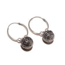 Silver Oxidized Earrings Jhumka Jhumki Jewelry Bollywood Drop Dangle Hoop 7668