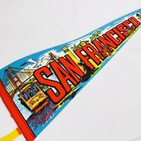 San Francisco Vintage Pennant Souvenir Flag California Golden Gate Trolley