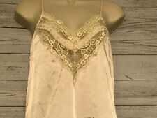 VTG Lilly of France Petite Peach Pink Sleepwear Satin Teddy Size Small Lingerie