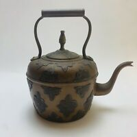 Copper Tea Kettle Pot Middle Eastern Moroccan Antique  19th Century