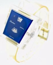 Lucerne Digital Watch Jump Hour Clear Acrylic Swiss Made Wristwatch