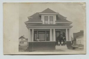 1910 eraSaskatoon Saskatchewan Canada residence Real Photo Postcard RPPC
