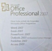 MS OFFICE 2007 Professional Vollversion BOX Key 32/64bit priv./gewerbl. DEUTSCH