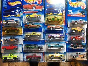 Hot Wheels Lot of 20 PIck up Dodge Ram Flashsider Ford F150 Bywayman Camino #35