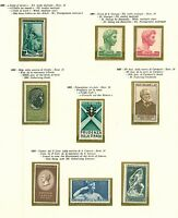 Italy 1957/9 complete run of issues with definitives and comms sg944/1014 Stamps