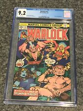 1976 Marvel Comics ~ Warlock #12 ~ CGC 9.2 NM- White Pages ~ Pip & Starfox App.