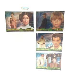 Stars Wars Evolution Cards Anakin Leia Obi-Wan 2001 TOPPS Base Character Series