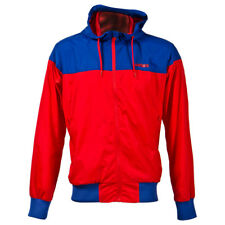 Surface Windjammer Mens Cycling Hooded Jacket Red Blue Windproof Casual XS