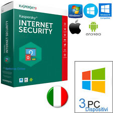 KASPERSKY INTERNET SECURITY MULTIDEVICE X3 2018  365 GIORNI LICENZA ORIGINALE