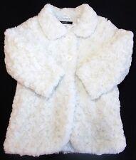 George girl coat faux fur cream winter 3-4 years