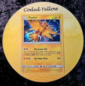 24/68 - Zapdos | Pokémon Hidden Fates Sun & Moon TCG | HOLO Card | New