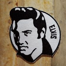 Ecusson patch brodé thermocollant Elvis, Musique Rockabilly, Rock 'n' Roll
