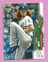2020 Topps Holiday Dustin May RC HW62 Los Angeles Dodgers