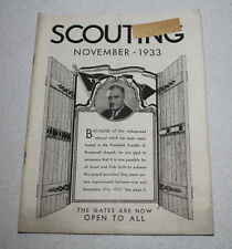 Scouting Magazine 1933 November Issue Gates Open to FDR Award Cover