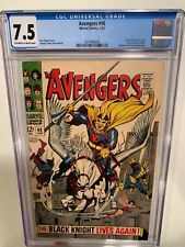 AVENGERS #48 CGC 7.5 OW/W Dane Whitman Becomes the BLACK KNIGHT ~ ETERNALS Movie