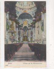 Prag Prague St Nikolauskirche Czechoslovakia Vintage U/B Postcard 504b