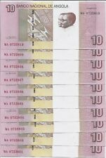 ANGOLA  LOT 10 PCS. X 10 KWANZAS 2012 (2017) P # new aUNC