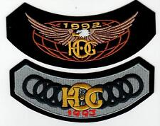 1992 & 1993 HOG Members Rocker Patches HARLEY DAVIDSON OWNERS GROUP HD MC club