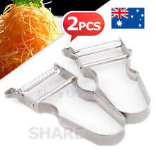 OZ L Vegetable Fruit Peeler Set Serrated Julienne in Stainless Steel Strip